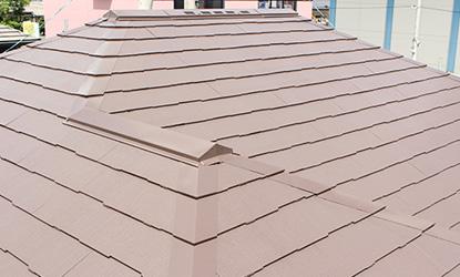 施工後 屋根部分