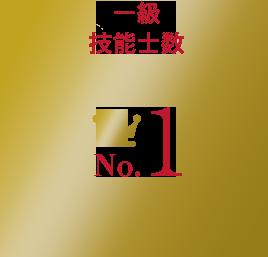 一級技能士数No.1